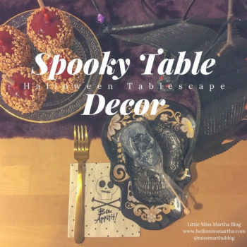 Spooktacularly Easy Halloween Themed Tablescape