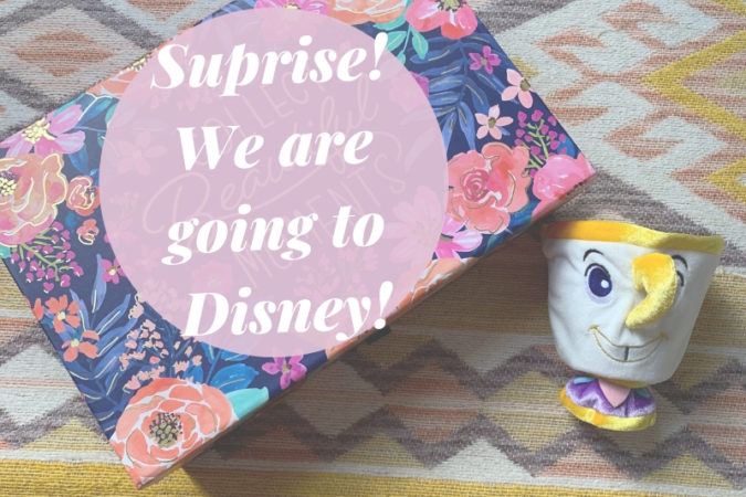 Surprise!  We Are Going to Disney!