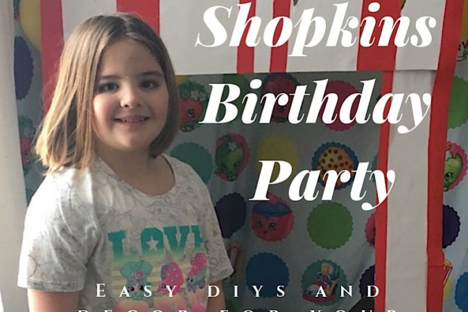 Easy Shopkins Themed 6th Birthday Party