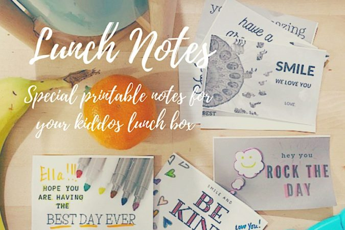 Printable Lunch Notes for Your Kids Lunchbox
